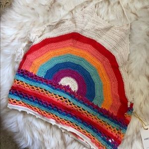 Crochet Rainbow Croptop